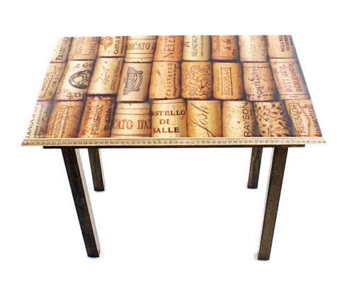 Wine Cork Table Design: Wine Corks Table+Wall Art